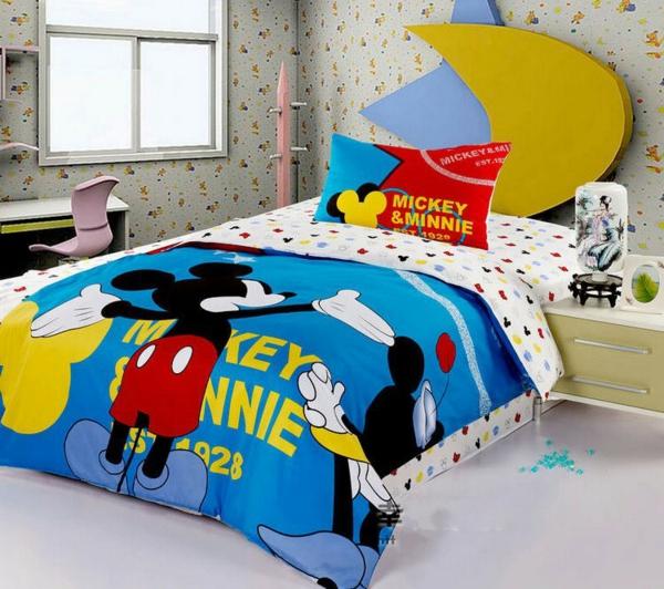 parure-de-lit-mickey-un-li-d'enfants-cosy