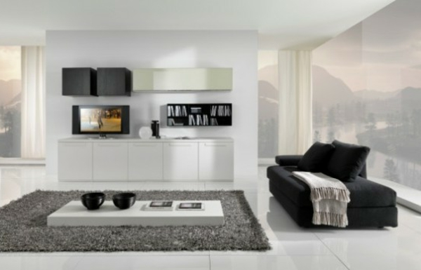 Le meuble design en style minimaliste for Petit salon design