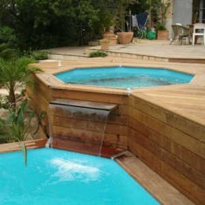 Le piscine hors sol en bois - 50 modèles