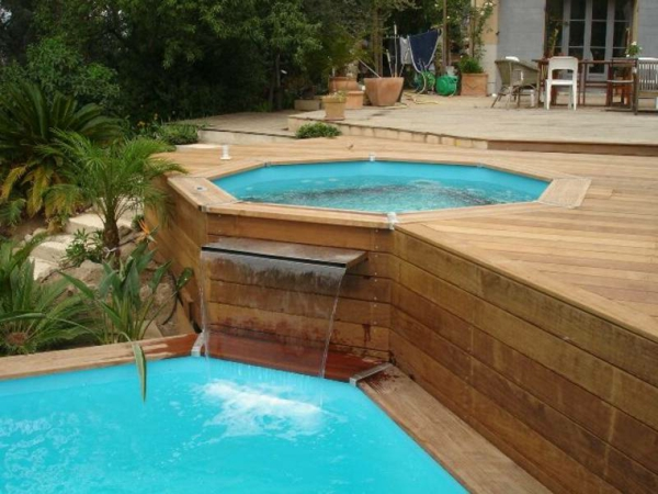Le piscine hors sol en bois 50 mod les for Amenagement piscine hors sol photo