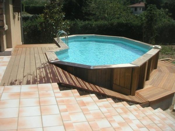 Très Le piscine hors sol en bois - 50 modèles - Archzine.fr SM55