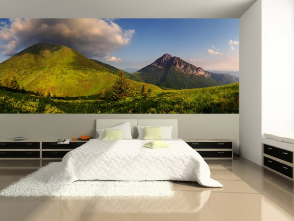 poster mural geant montagne. Black Bedroom Furniture Sets. Home Design Ideas