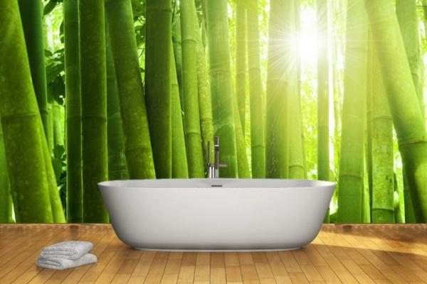 poster-mural-trompe-l' oeil-forêt-de-bambous