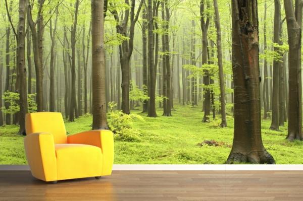 poster-mural-trompe-l' oeil-un-forêt