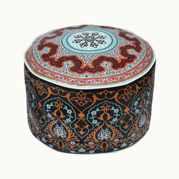 pouf-marocain-bariolé