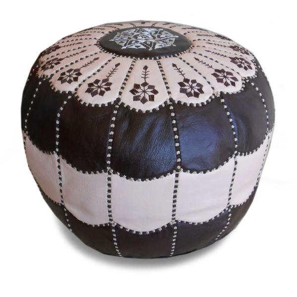 pouf-marocain-en-noir-et-blanc