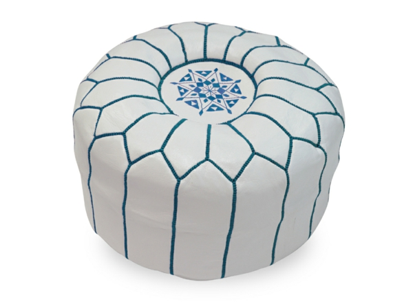 pouf-marocain-turquoise-et-blanc