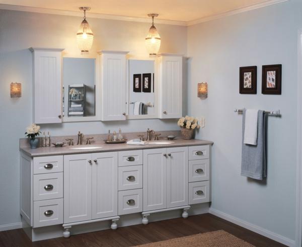 Le rangement de salle de bains - Miroir rangement salle de bain ...