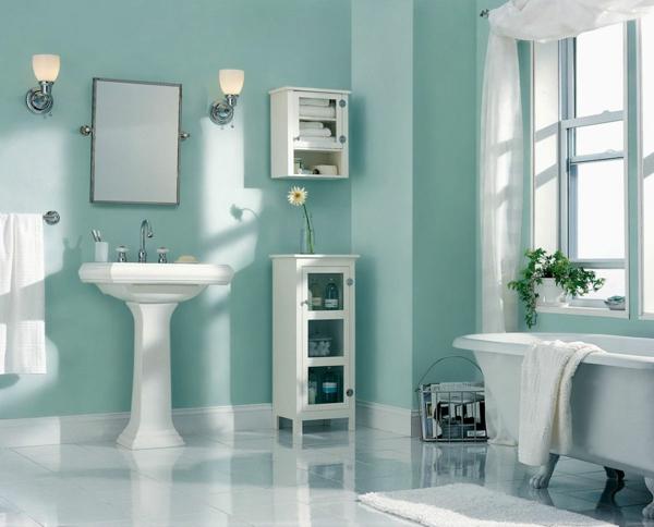 Awesome salle de bain turquoise et blanc ideas awesome - Meuble salle de bain turquoise ...