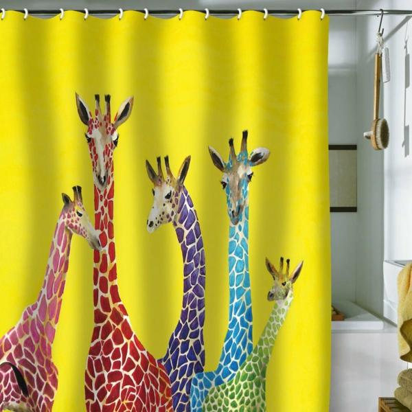Un rideau de douche original transforme votre salle de - Rideaux de douche originaux ...