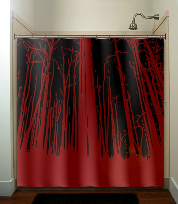 un rideau de douche original transforme votre salle de bains. Black Bedroom Furniture Sets. Home Design Ideas