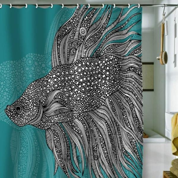 un rideau de douche original transforme votre salle de bains. Black Bedroom Furniture Sets. Home Design Ideas