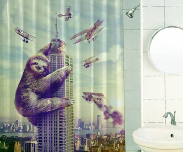Un rideau de douche original transforme votre salle de bains ...