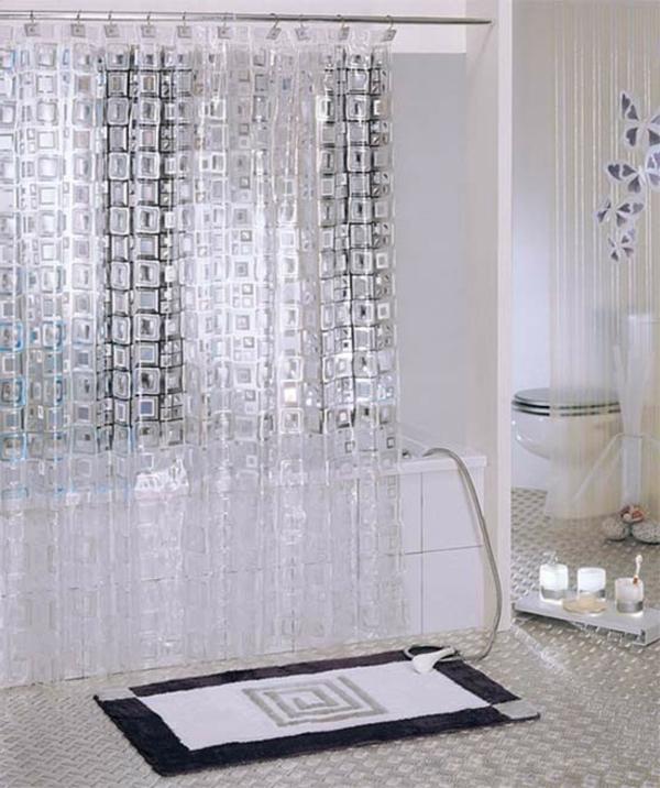 Un rideau de douche original transforme votre salle de bains for Rideau de douche moderne