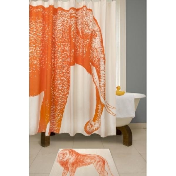 rideau-de-douche-original-un-éléphant-orange