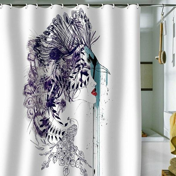 Un rideau de douche original transforme votre salle de bains - Rideau douche original design ...
