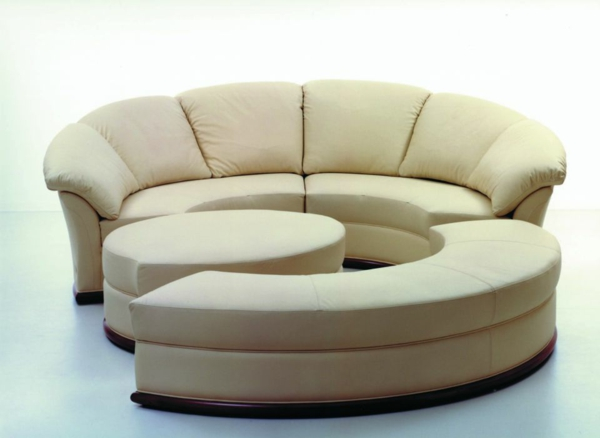 Le canap d 39 angle convertible en beige - Canape angle rond ...