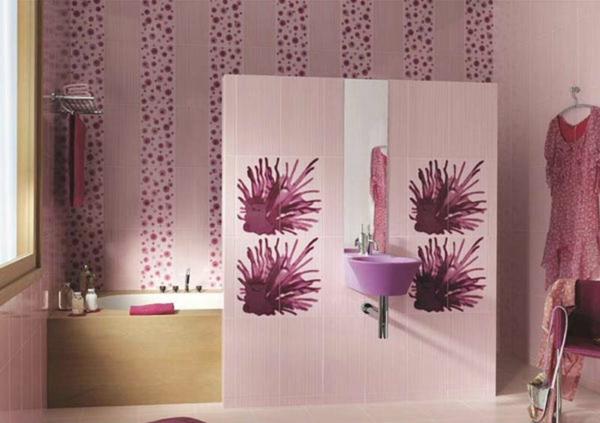 rose-décoration-pour-la-salle-de-bain
