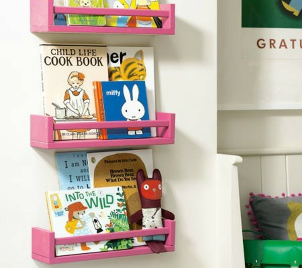 rose-meuble-bibliotheque-d'enfant
