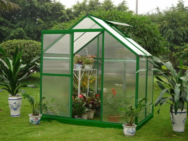 serre-de-jardin-en-polycarbonate-encadrement-vert
