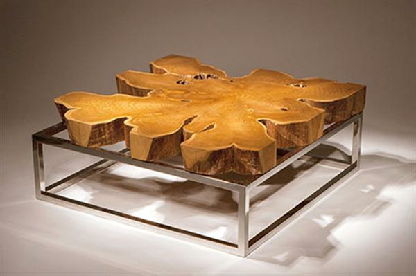 Mod les de table basse originale inspir s par la nature - Table basse originale en verre ...