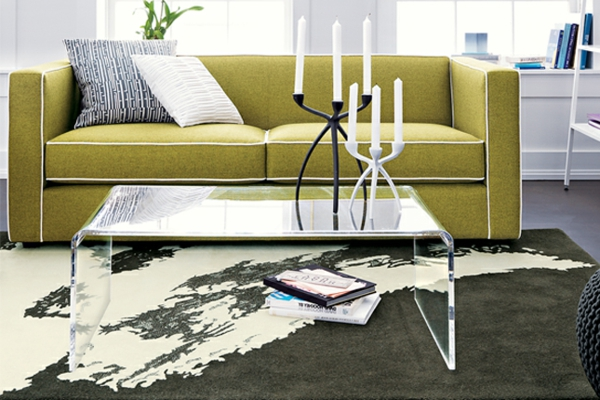 table-basse-transparente-divan-moutarde