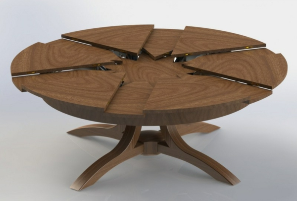 Table ronde extensible design - Table ronde bois extensible ...