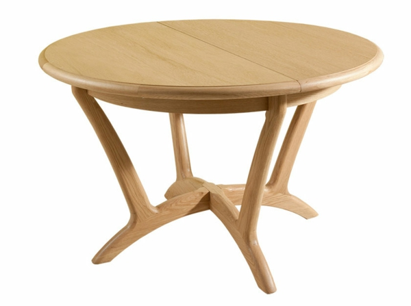 Table ronde en bois extensible for Table ronde en bois extensible