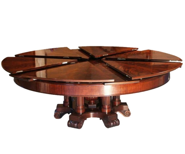 Expandable round dining tables for Table ronde extensible