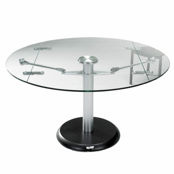 Table a manger en verre extensible conceptions de maison for Table ronde extensible