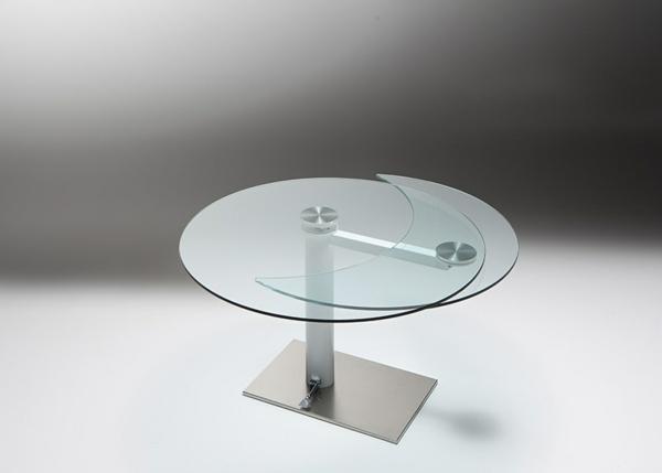 Table ronde en verre extensible conceptions de maison - Table salle a manger verre extensible ...