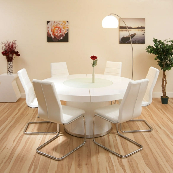 la table ronde extensible id es pratiques pour votre. Black Bedroom Furniture Sets. Home Design Ideas