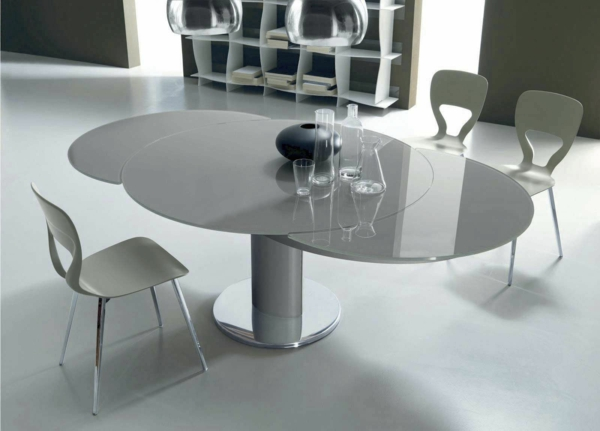 Tables rondes extensibles design for Table de salle a manger extensible design