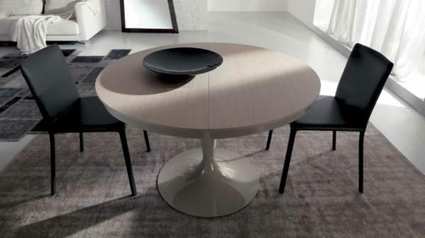 table-ronde-extensible-tapis-beige