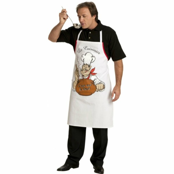 Un tablier de cuisine mod les originales - Tablier de cuisine rigolo femme ...