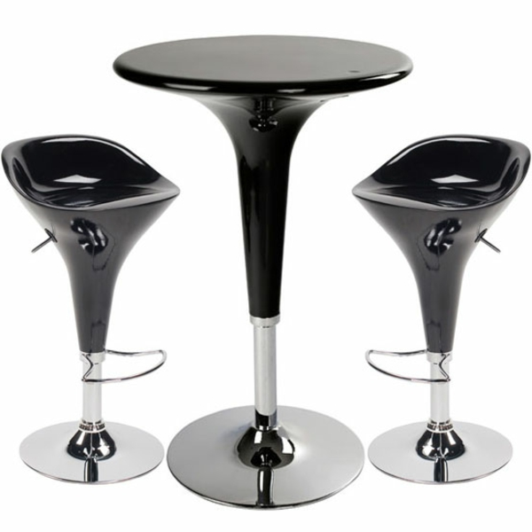 le tabouret de bar noir. Black Bedroom Furniture Sets. Home Design Ideas