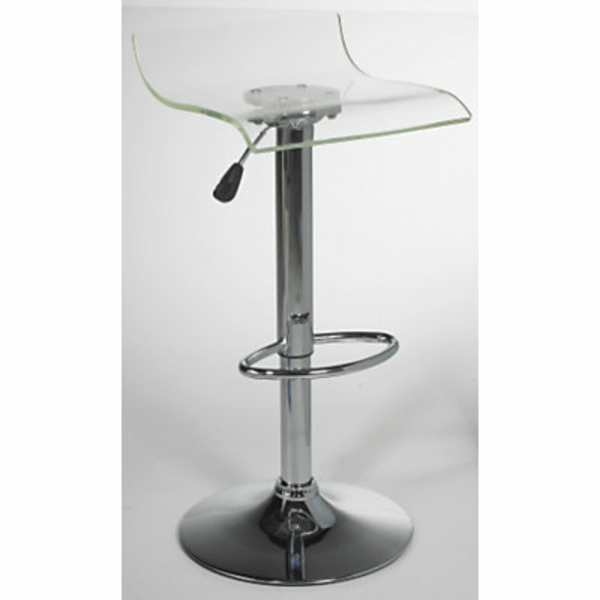 un tabouret de bar transparent - chic et modernité - archzine.fr - Chaise De Bar Transparente