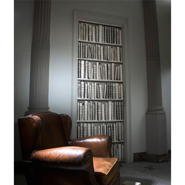 trompe-l' oeil-pour-porte-bibliothèque