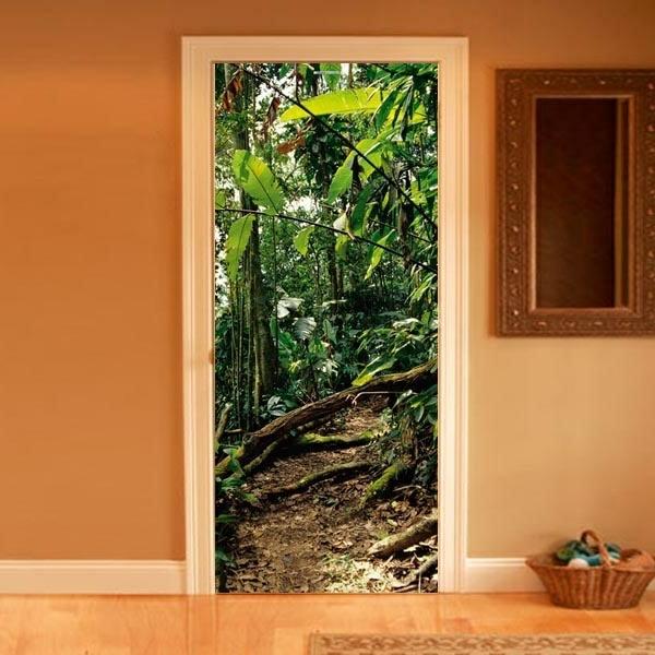 trompe-l' oeil-pour-porte-une-vue-tropicale