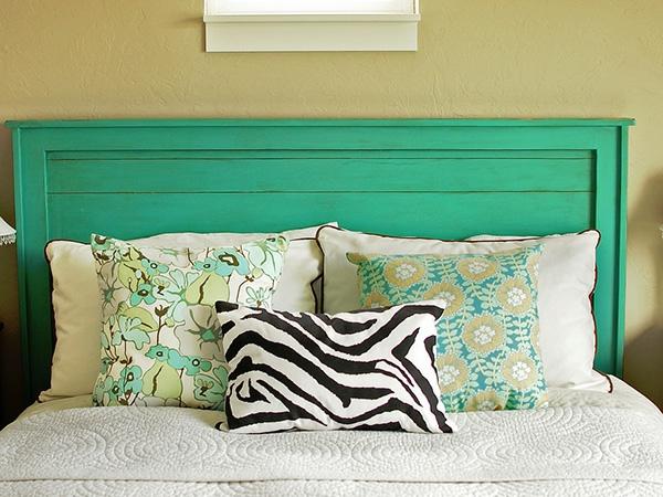 turquoise-tête-de-lit-en-coussin
