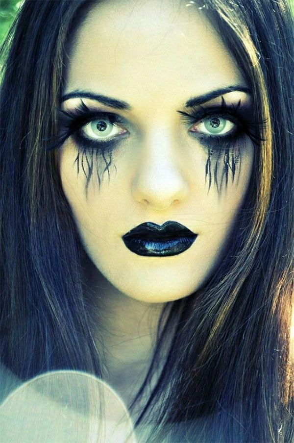 Le tuto du maquillage de halloween artistique - Maquillage halloween facile homme ...