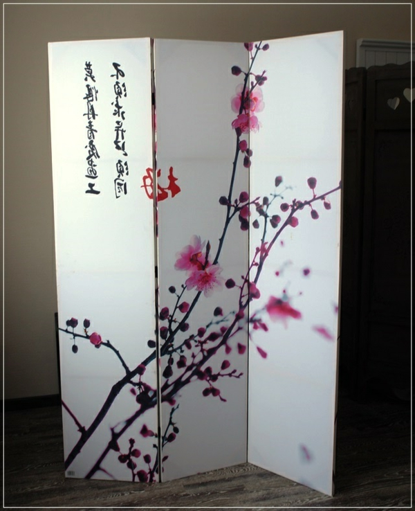 Un paravent japonais id e fra che for Meuble bureau japonais