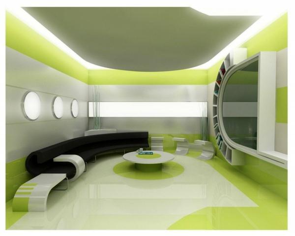 unique-intérieur-pour-le-salon-en-vert