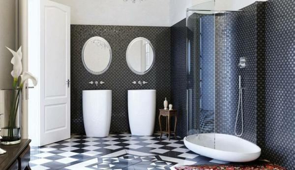 vasque-colonne-carrelage-mosaique-miroirs-ovals