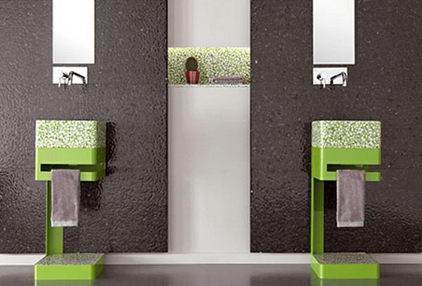 vasque-colonne-design-vert