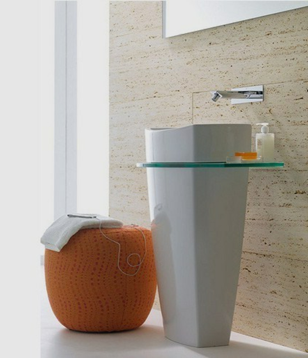 vasque-colonne-tabouret-orange