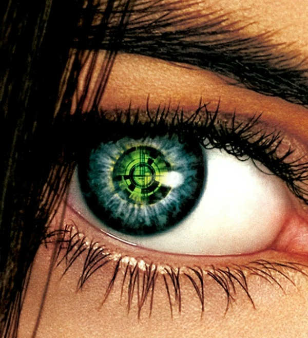 vert-matrix-maquillage-de-lentille-de-halloween