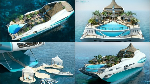yacht-tropical-île-design