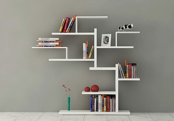 L 39 tag re murale design 82 id es originales for Deco etagere murale salon
