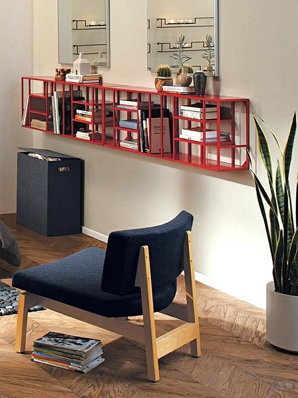 étagère-murale-design-étagères-rouges-modernes